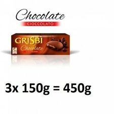 3x Vicenzi Grisbi Chocolate biscuits pastry 150 gr Italy italian cookies