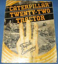 1930s CaTeRPiLLaR Twenty-Two Tractor advert brochure ORIGINAL