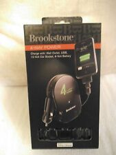 NEW BROOKSTONE 4-WAY POWER WALL OUTLET USB 9 & 12 VOLT IPHONE IPOD DROID CAMERA