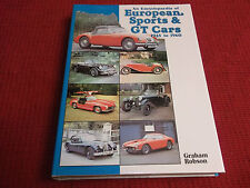 Book. An Encyclopaedia of European Sports & GT Cars. 1945 to 1960. 1st 1981 HB