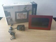 "Sony S-Frame DPF-D70 7"" Red Digital Photo Frame *No Remote*"