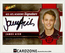 2013 Select AFL Future Force Black Signature Cards FFRS8 James Aish (Brisbane)
