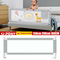 "59/71/79"" Baby Bed Fence Safety Gate Barrier Crib Rail Security Playpen Children"
