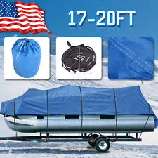 600D 17-20 Ft Heavy Duty Trailerable Boat Cover Tri-Hull Waterproof Beam 96""