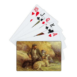 Deerhound Lurcher Pack of Laminated Playing Cards & Case Unique Novelty Gift