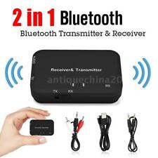 2 In1 Bluetooth Wireless Audio Transmitter+Receiver 3.5mm AUX HIFI Music Adapter