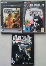 DELTA FORCE BLACK HAWK DOWN + arma ARMED ASSAULT + RAINBOW SIX LOCKDOWN PC