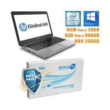 "COMPUTER NOTEBOOK PORTATILE HP ELITEBOOK 840 G1 I5 4200U 14"" WINDOWS 10 PRO-"
