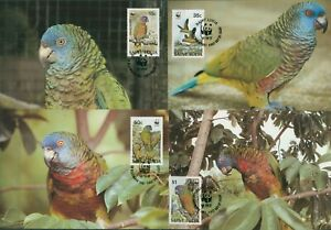 St. Lucia 1987 WWF Blaumaskenamazone 909/12 Maximumkarten (X30670)