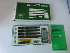 New Vintage Faber-Castell S 1164 Drafting Drawing 4 Pen Set w/Case Germany