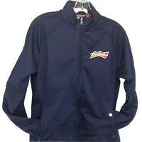 Budweiser Logo Track Jacket Levalwear Brand Womens Size Medium Navy Zip Front