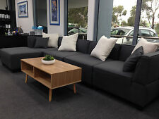 Lounge,Sofa,Suite Couch Corner Chaise With 6 Pillows. Fabric. 5 colours