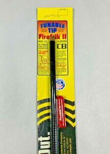Firestik II FS4 Black 4 ft. Fiberglass CB Radio Antenna w/ tuneable tip 4 foot