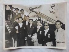 BRAZIL MOTORCYCLE TEAM,EVA PERON PREMIUM,COSTANERA AVE.ORIGINAL PRESS PHOTO 1953