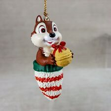 "Disney Chip in Mitten w/ Acorn 4"" Christmas Ornament Chipmunk #DCO 108 Chip Dale"