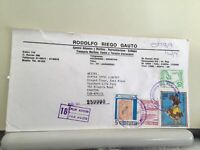 Paraguay  registered Airmail multi stamps and cancels  cover Ref R25471