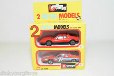 BBURAGO BURAGO 4200 GIFT SET GIFTSET 2 CARS FERRARI 512 BB RALLY N MINT BOXED