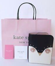 KATE SPADE Frosty Penguin Passport Holder Case leather WLRU5750 MSRP $99 Nwt