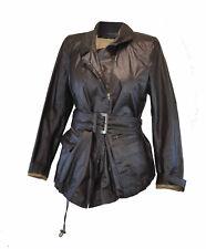 ** Donna Karan ** Brown Jacket / Coat ** Coated Fabric ** GB 6 **