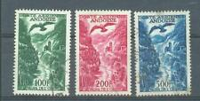 Andorra Air 1955-7 bird over river sg. F163-5 used 3 values