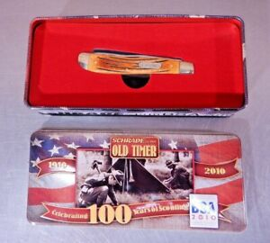 Schrade Old Timer 2010 Celebrating 100 Years of Scouting In Tin - NEW
