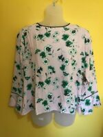 M&S COLLECTION Pink Floral Blouse Round Neck Top NON IRON UK 24 NEW Womens