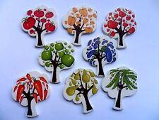 16 uds grande Frutas y Verduras árbol madera para scrapbooking /