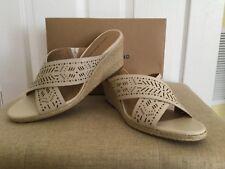 Lucky Brand Womens Keela Leather Open Toe  Espadrille Sandals Sandshell 11 M