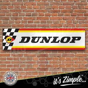 Dunlop Tyres Flag Banner Garage Workshop Sign Printed PVC Trackside Display