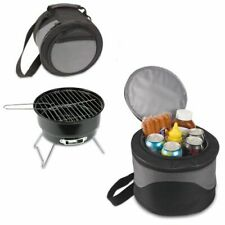 Soaring Eagle Portable Charcoal Bbq Grill & Cooler Combo W/Carry Tote Picnic
