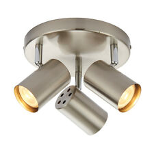 Arezzo 3 Light Spot Plate 7W Satin Chrome & Chrome plate c/w 7w LED Bulbs inc