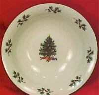 Gibson Christmas Tree Soup Cereal Bowl Holly Presents Multi Color Dinnerware