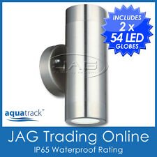 54-LED GU10 H/D 316 STAINLESS STEEL UP/DOWN OUTDOOR EXTERIOR WALL LIGHT - IP65