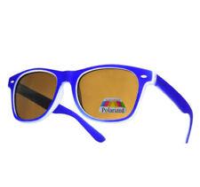 Occhiali da sole da donna con lenti in blu polarizzata e mantatura in metallo e plastica