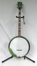 Beautiful Rare Vintage Kent Green Sparkle Shimmering 4 String Banjo Guitar
