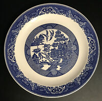 """Vintage Blue & White Willow Ware by Royal China 12"""" Round Platter"""