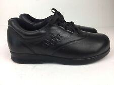 Drew Shoes Women's 'Parade II' Work Therapeutic Black Pebbled Leather Sz 7.5 M