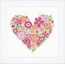 Vervaco Point de Croix Kit - Floral Cœur