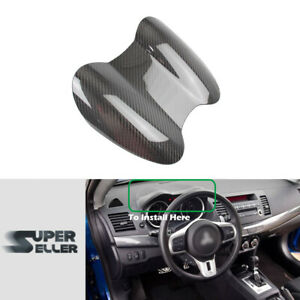 Carbon Fiber Gauge Speedometer Cover Trim Fit For Mitsubishi Lancer EVO X 10th
