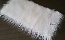 "10"" x 20"" Long Hair White Faux Fur Fabric Sew Craft Trim Costume NEW!"