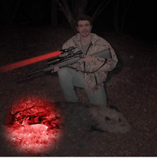 Tactical Hunting Night Flashlight Red Light Led Mount Torch Predator Gun