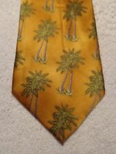 """WILD TIES MENS TIE GOLD WITH PALM TREES 58.5 """"X 4"""""""
