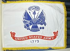 Authentic Us Army Official Full Size Flag w/Fringe Parade Pole Valley Forge Aj