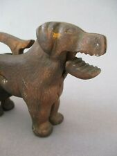 A Vintage / Antique Cast Iron Metal Dog Nut Cracker ~ Made in England