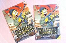 2 postales divertidas   Medalla de Homer. Mapa promocional de Sansón honor tarjetas postales