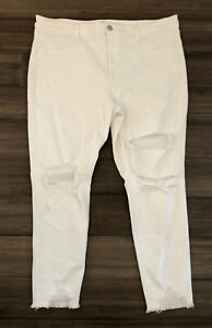 AMERICAN EAGLE OUTFITTERS Women's White Hi-Rise Jegging Denim Jeans-Size 22R