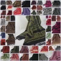 New Winter Women's Man's Jacquard Long Cashmere Wool Soft Warm Wrap Shawl Scarf