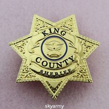 The Walking Dead King County Sheriff  Badge Prop Grimes Badge-Replica