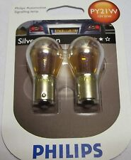 PHILIPS SILVERVISION PY21 INDICATOR SILVER VISION EFFECT PHILIPS PY21 BULBS