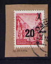 DDR, Mi-Nr. 439 a II, Briefstück, gestempelt, Attest